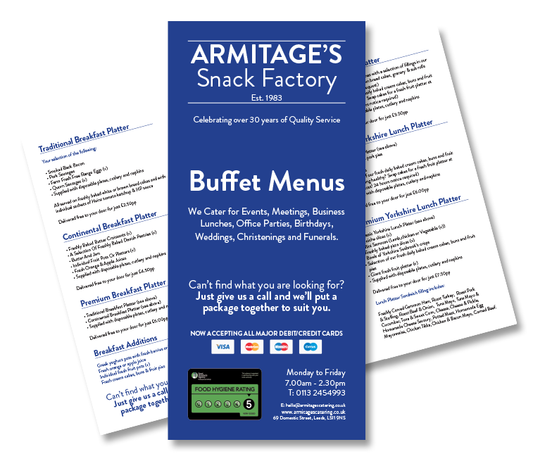 Armitages-Buffet-Menu